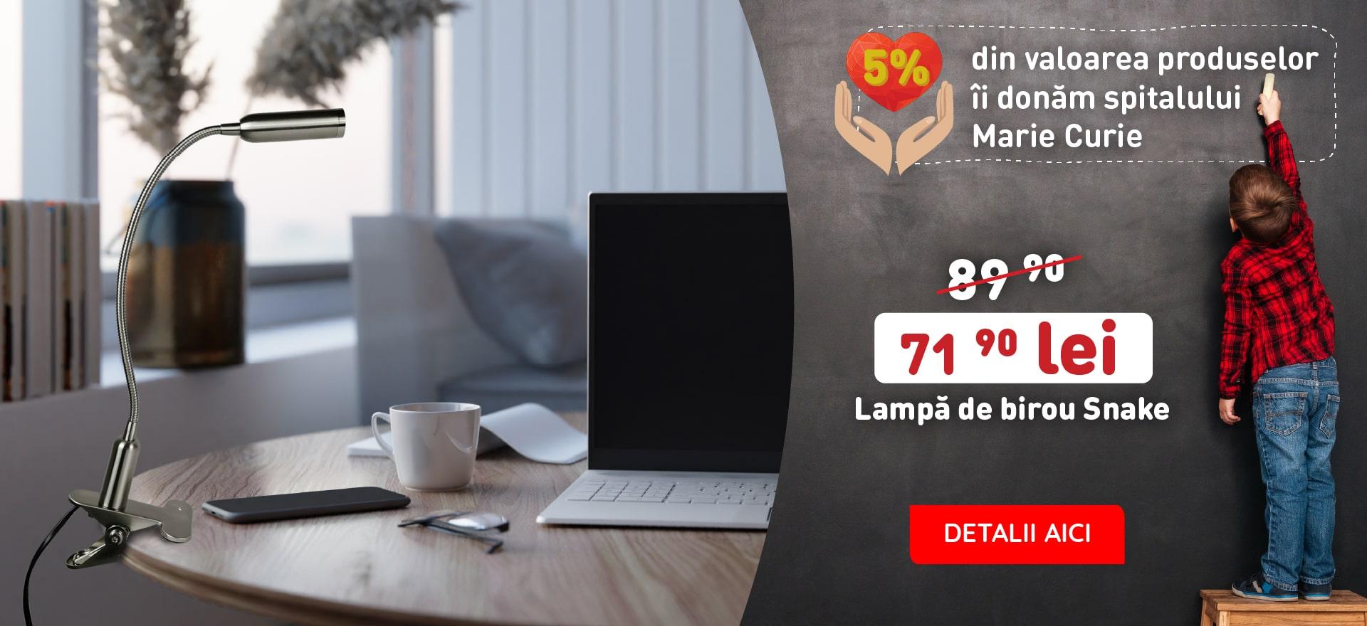 LAMPA LED SNAKE, L 48 CM, 3W, ALUMINIU/NICHEL, ARGINTIU