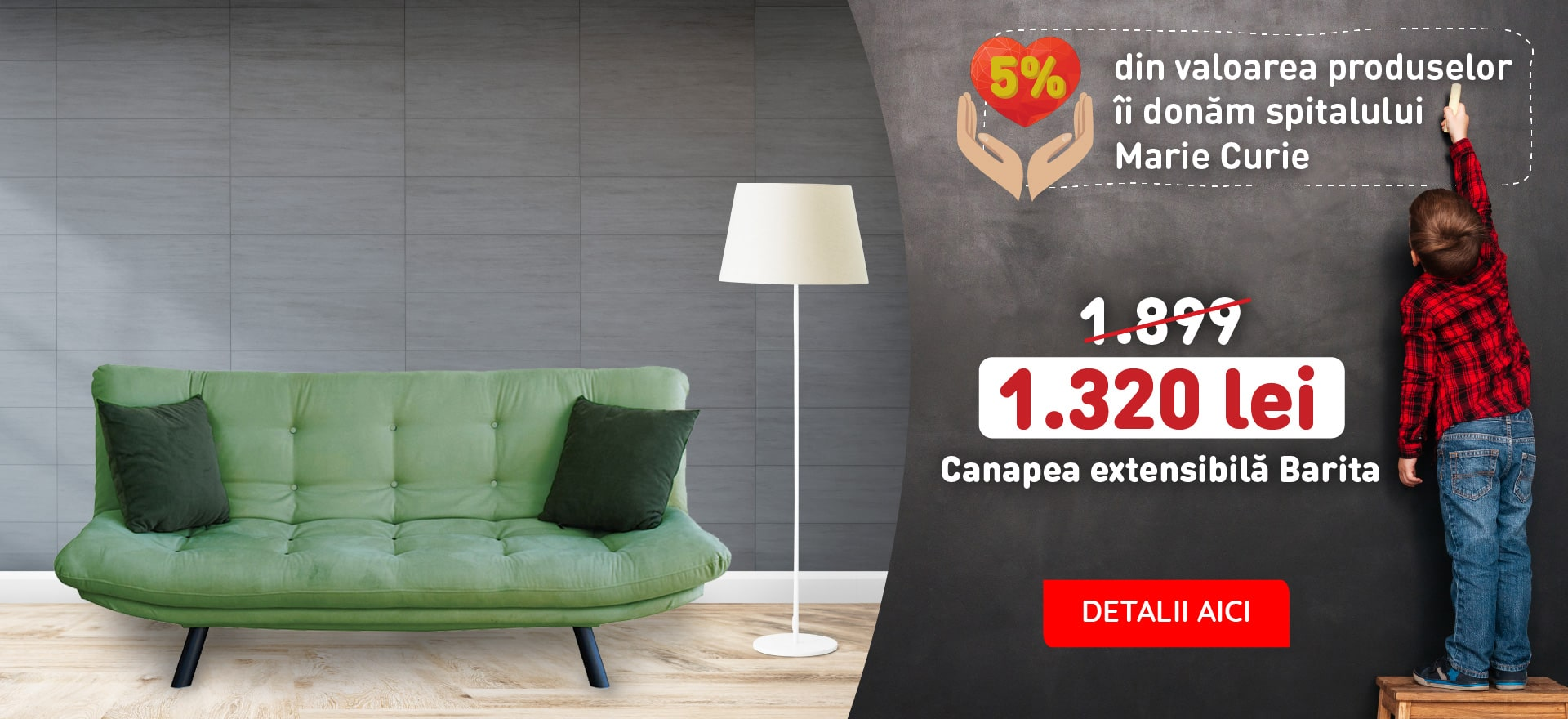 CANAPEA EXTENSIBILA BARITA,190X55X100 CM,VERDE OLIVE,TEXTIL IMPERMEABIL,CADRU OTEL