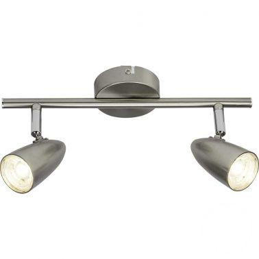 SPOT DUBLU NANO CU LED, 4W, 2X350 LUMENI, METAL, ARGINTIU