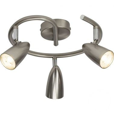 SPOT TRIPLU NANO CU LED, 4W, 3X350 LUMENI, METAL, ARGINTIU