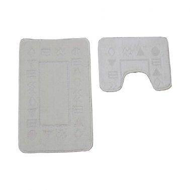 SET COVORASE CLASSIC, 2 BUC/SET, 50X80 + 40X50 CM, ANTIK, CREM