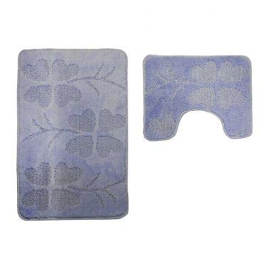 SET COVORASE CLASSIC, 2 BUC/SET, 50X80 + 40X50 CM, FLORI, BLUE