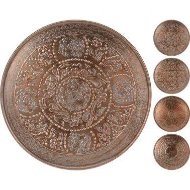 PLATOU DECORATIV ALUMINIU, 38 CM, CUPRU