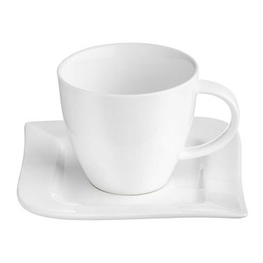 SET CAFEA/CEAI 12 PIESE,PORTELAN,CEASCA 220 ML + FARFURIE,ALB,FALA