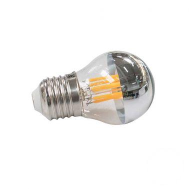 BEC LED FILAMENT 6W, E27, 480 LM, TIP HALF-SILVER, G45-6LWS