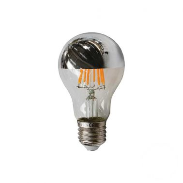 BEC LED FILAMENT 8W, E27, 640 LM, TIP HALF-SIVER, A60-8LWS