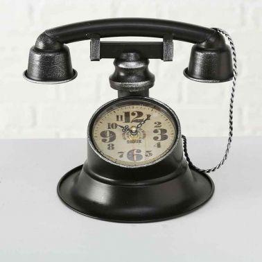 CEAS DE MASA, MODEL TELEFON, 25X21X21 CM, METAL, NEGRU