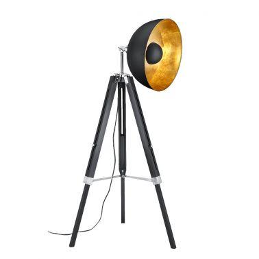 LAMPADAR LIEGE LEMN NEGRU MAT/METAL, 1X E27, 60W EXCL