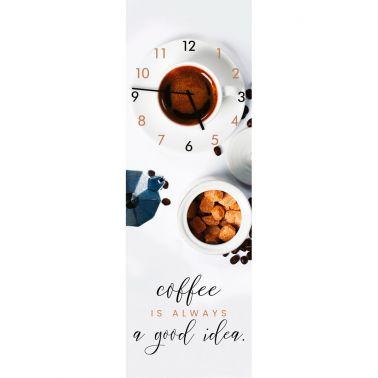 CEAS DE PERETE 20X60 CM, COFFE, STICLA