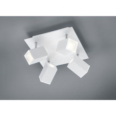 SPOT LAGOS, 25X25 CM, 1 X SMD LED, 6 W, 4X550 LM, 3000 K, METAL, ALB MAT