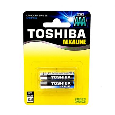 SET 2 BATERII ALCALINE TOSHIBA R3, HIGH POWER, AAA, 1.5 V