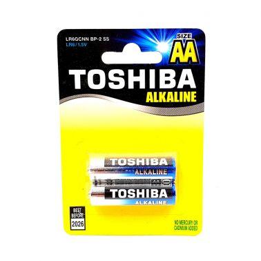 SET 2 BATERII ALCALINE TOSHIBA R6, HIGH POWER, AA, 1.5 V