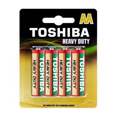 SET 4 BATERII ZINC TOSHIBA R6, HEAVY DUTY, AA, 1.5 V