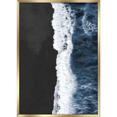 TABLOU 50X70 CM, BLACK BEACH