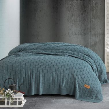 PATURA TRICOT MELODY 220X240 CM, VERDE
