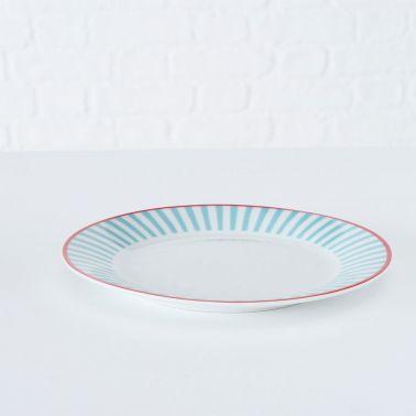 FARFURIE PORTELAN, DESERT, ALB/BLUE/ROSU, 19 CM, MODEL 1