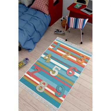 COVOR ANTIDERAPANT, DREPTUNGHIULAR,120X180, KIDS, NUMBERS, MULTICOLOR, POLIESTER