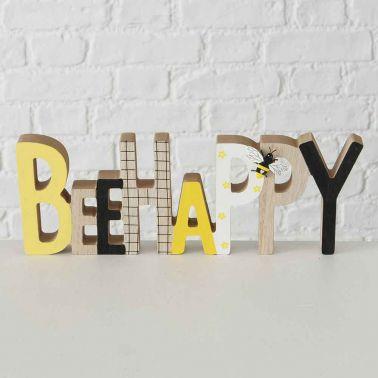 DECORATIUNE BEE HAPPY, 30X3X11 CM, MDF/METAL, MULTICOLOR, MODEL 1