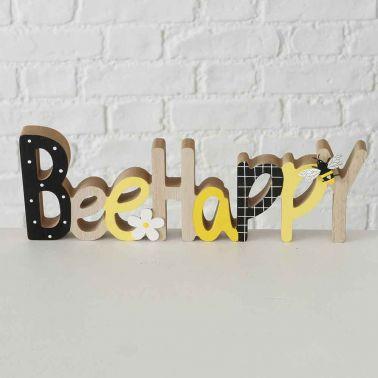 DECORATIUNE BEE HAPPY, 30X3X11 CM, MDF/METAL, MULTICOLOR, MODEL 2