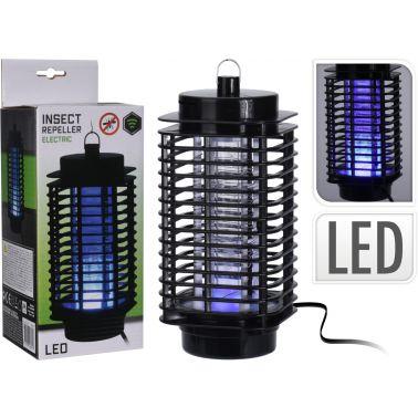 APARAT ELECTRIC ANTI-INSECTE, 8 LED-URI UV, 10X10X22 CM, 1.2 W, NEGRU