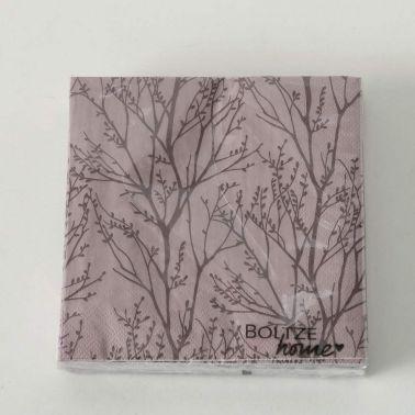 SERVETELE FOREST 17X17 CM,ROZ/MARO,20 BUC/SET,MODEL 1