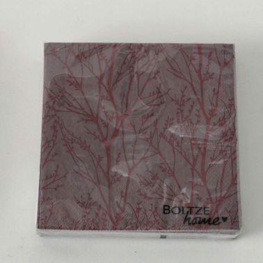 SERVETELE FOREST 17X17 CM,MARO/BORDO,20 BUC/SET,MODEL 2