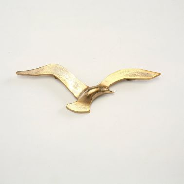 DECORATIUNE PERETE FLYING, 35X2X12 CM, ALUMINIUL, AURIU, MODEL 1