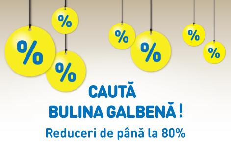 Regulament Campanie Cauta Bulina Galbena - Reduceri saptamanale de pana la 80%